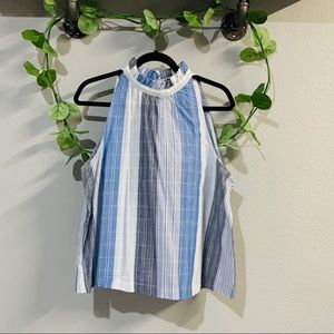 Universal Thread high neck blue & white top size L